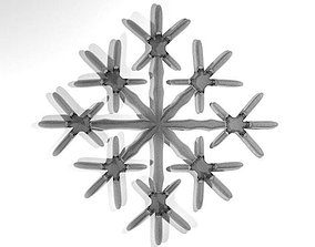 3D model Snowflake - Type 7