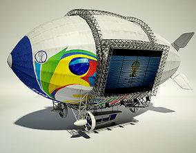 Advertising Zeppelin Fifa 2014 3D