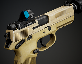 FNX-45 Tactical with Attachments 3D asset