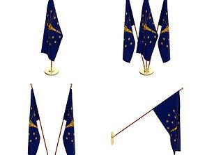 3D model Indiana Flag Pack