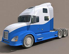 3D Blue Bottom Truck 13