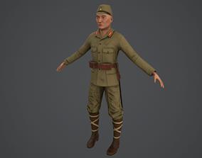 3D asset Japanese soldier