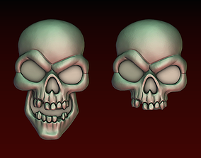 Skull bas-relief 3D print model