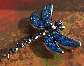 jewelry 3D printable model Dragonfly