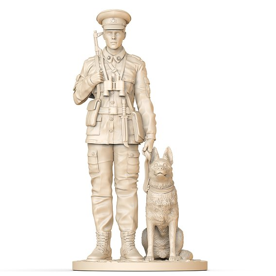 two soldiers for 3d printing
