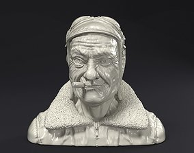 Steampunk pilot head 3D print model