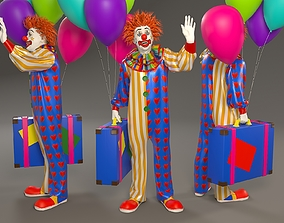 Clown Male ACC 2130 002 3D model game-ready