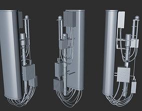 4G 5G Network Cell Transmitter Tower 3D equipment