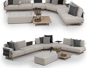3D Roda Eden Corner Sofa