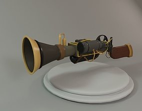 SteamPunk Shotgun Cartoon 3D