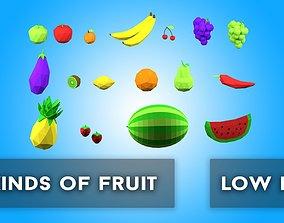 3D model Fruit Assets Low Poly