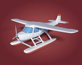 Cartoon Sea Plane 3D model