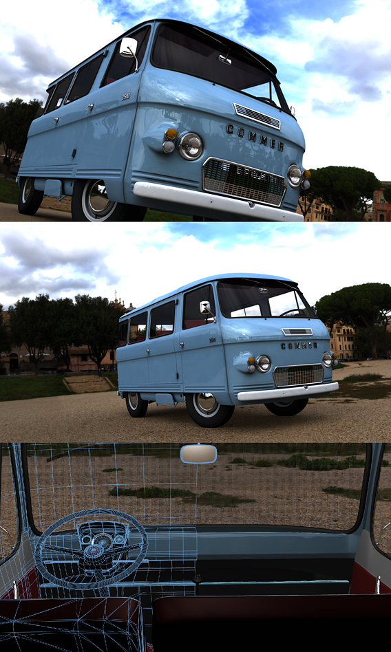 COMMER 2500 BUS 1968