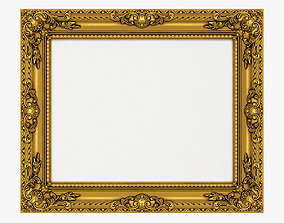 3D model Frame picture gold v4