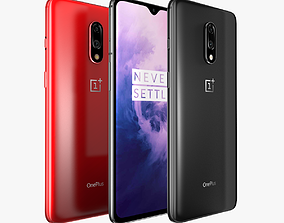 OnePlus 7 Mirror Gray and Red 3D model