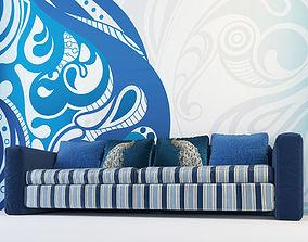 Blue Sofa 3D furniture