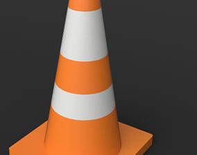 Orange Construction Cone 3D model