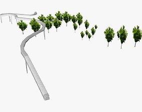 3D model Convention Center Pedestrian Bridge