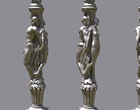 3D printable model Man And Woman Column