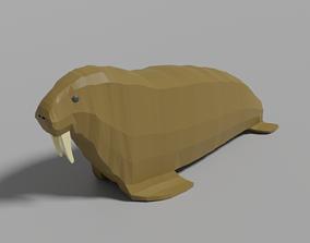 Cartoon Walrus 3D asset