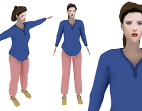 3D model rigged Nancy Thompson