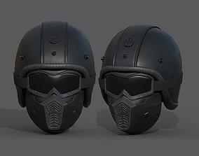 game-ready Helmet scifi military combat 3d futuristic