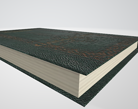 Book with hard cover 3D asset