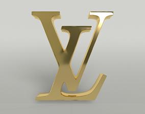 Louis Vuitton Logo 002 3D asset