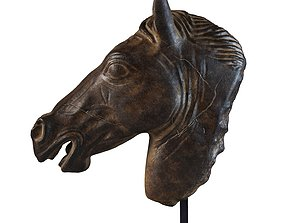 3D model Greco-Roman Horse Head Sculpture Fragment RH