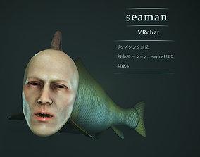 3D asset seaman