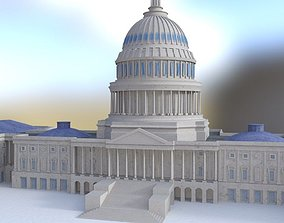 US Capitol in 3ds obj and fbx formats