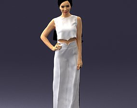 businesswoman Girl in pose 0148 3D Print Ready