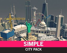 Simple City - Cartoon Assets 3D model