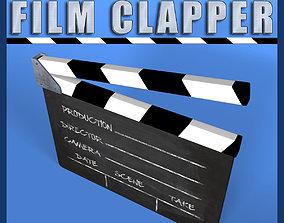 Film Clapper 3D asset