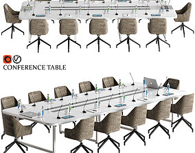 office conference table 19 3D model