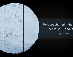 3D asset Procedural Snow Material 3 Variations
