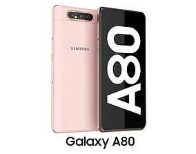3D model Samsung Galaxy A80 Angel Gold