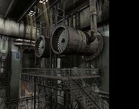 Sci-fi scene interior 3D model