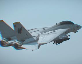 super fighter aircraft f14 3D asset
