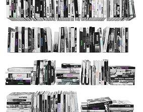 Books 150 pieces 2-1-1 3D asset