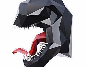 Venom Head Low Poly 3D asset