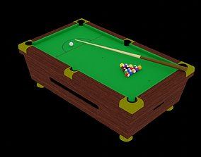 3D model low-poly Pool Table