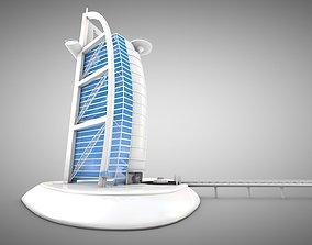 3D asset Burj Al Arab