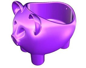 Pig Plant Pot 3D printable model