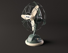 Vintage desk fan Marelli 3D model