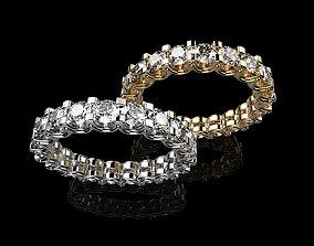 3D print model earring Diamond Wedding Love Rings