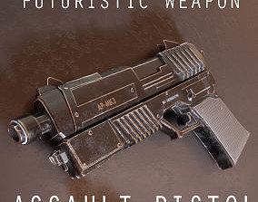 Sci-fi Pistol - PPP-mk4 3D asset