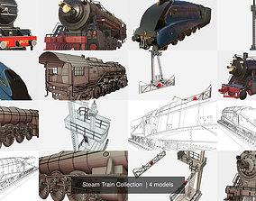 3D model Steam Train Collection
