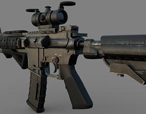 3D model Assault riffle