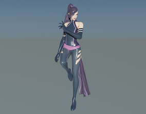 3D model Cute Sexy Fortnite Psylocke Item Shop Skin 1